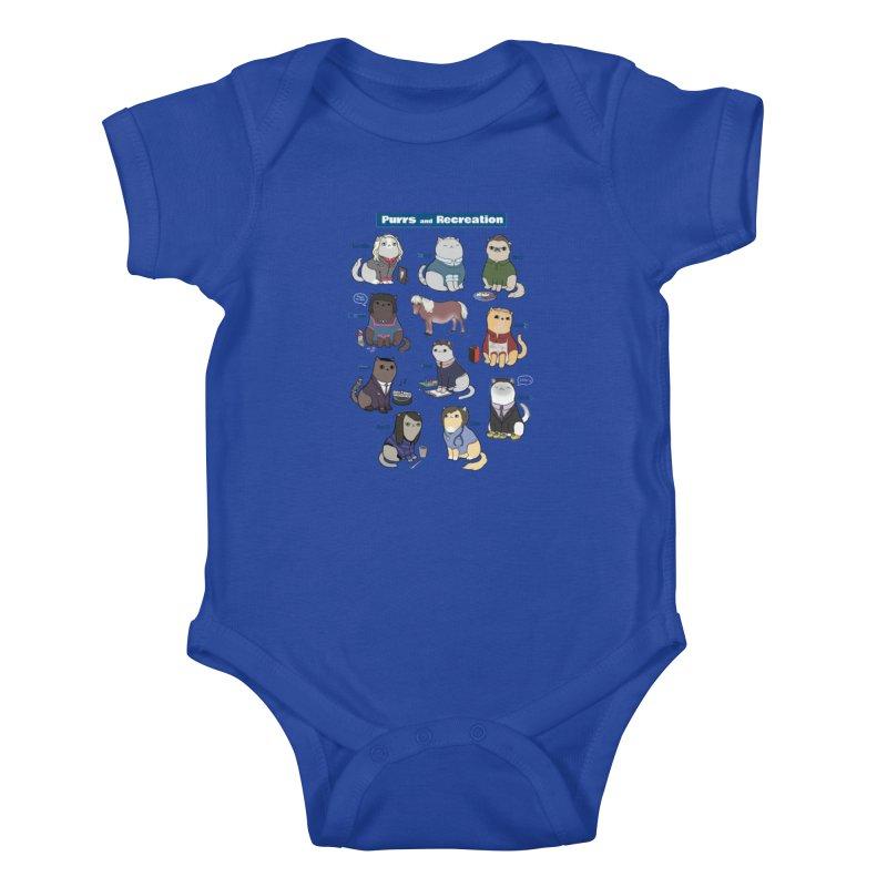 Purrs and Recreation Kids Baby Bodysuit by KittyCassandra's Artist Shop
