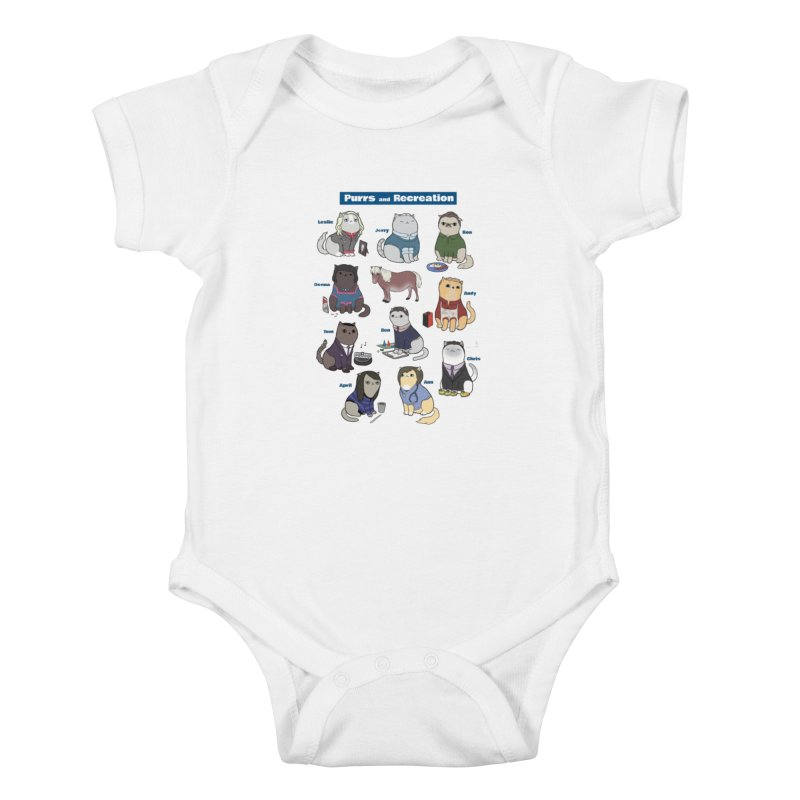 Purrs and Recreation Kids Baby Bodysuit by KittyCassandra's Artist Shop
