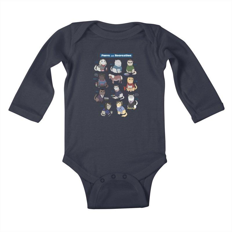 Purrs and Recreation Kids Baby Longsleeve Bodysuit by KittyCassandra's Artist Shop