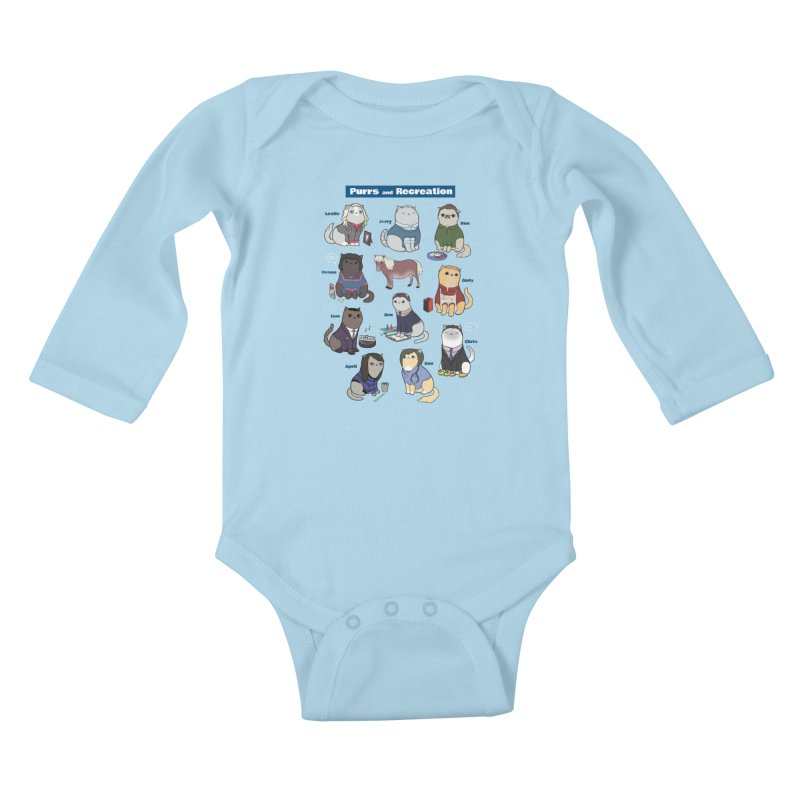 Purrs and Recreation Kids Baby Longsleeve Bodysuit by KittyCassandra's Artist Shop