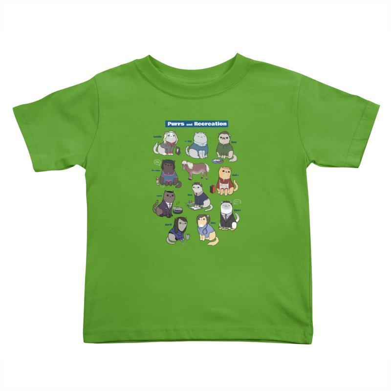 Purrs and Recreation Kids Toddler T-Shirt by KittyCassandra's Artist Shop