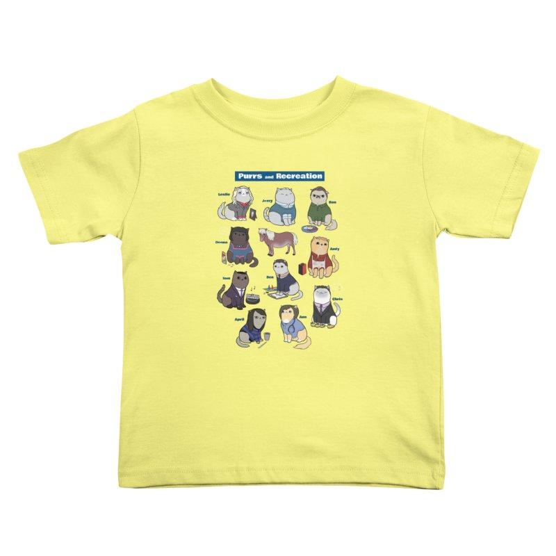 Purrs and Recreation Kids Toddler T-Shirt by KittyCassandra's Artist Shop
