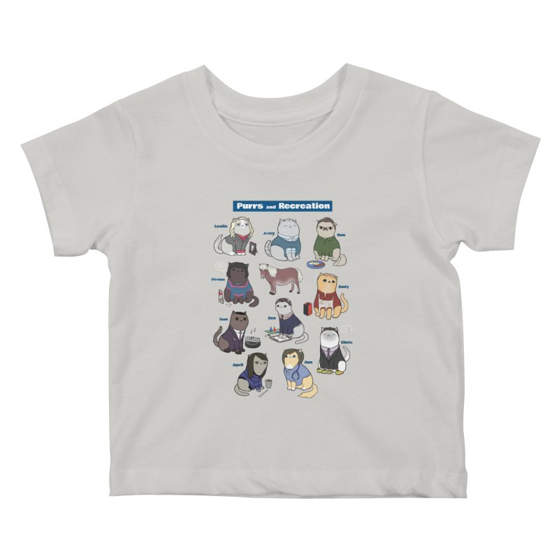 Purrs and Recreation Kids Baby T-Shirt by KittyCassandra's Artist Shop