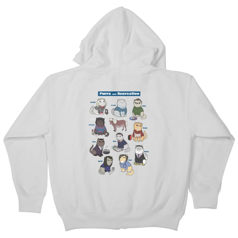 Purrs and Recreation Kids Zip-Up Hoody by KittyCassandra's Artist Shop
