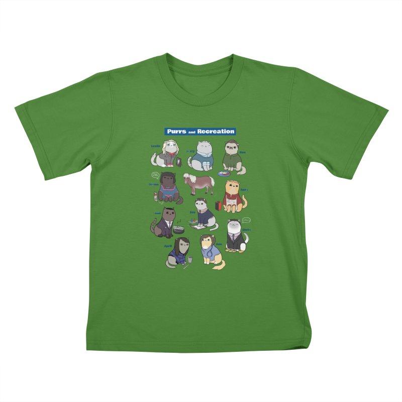 Purrs and Recreation Kids T-Shirt by KittyCassandra's Artist Shop