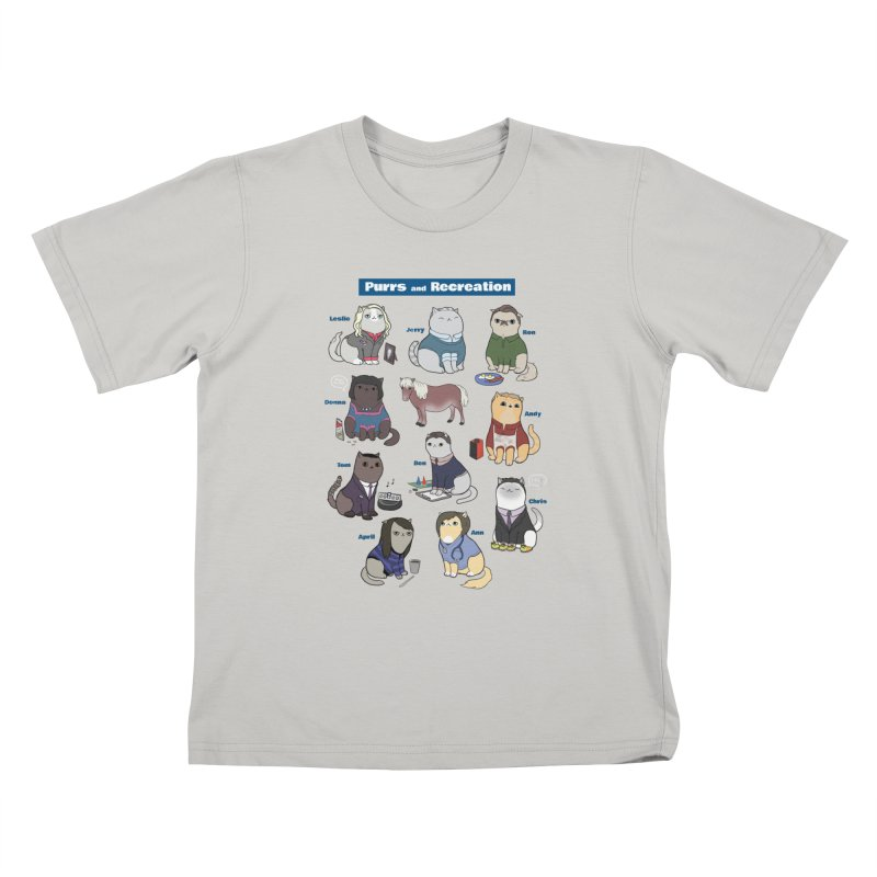 Purrs and Recreation Kids T-shirt by KittyCassandra's Artist Shop