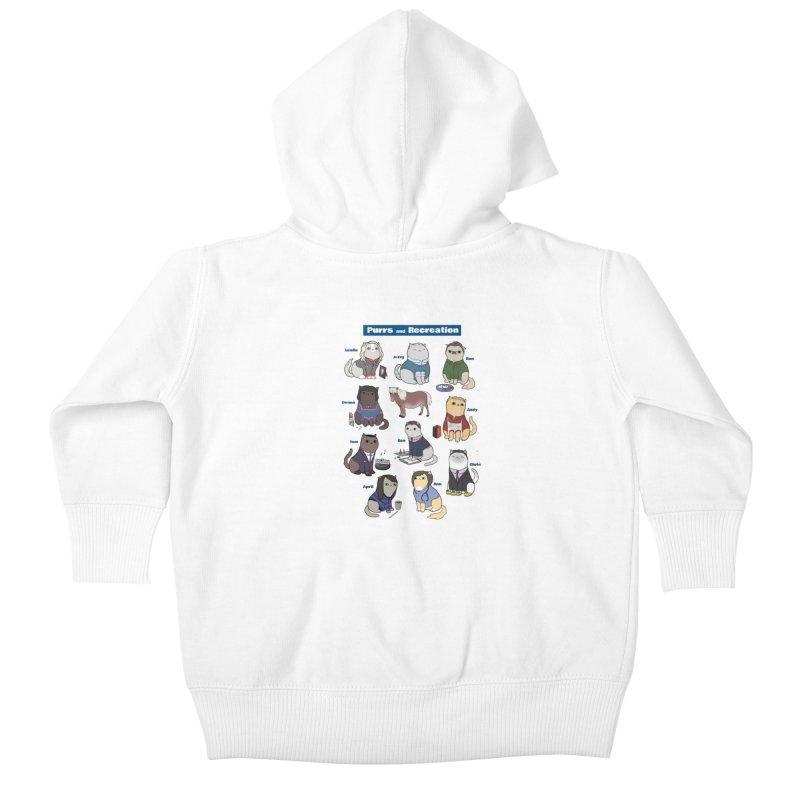 Purrs and Recreation Kids Baby Zip-Up Hoody by KittyCassandra's Artist Shop