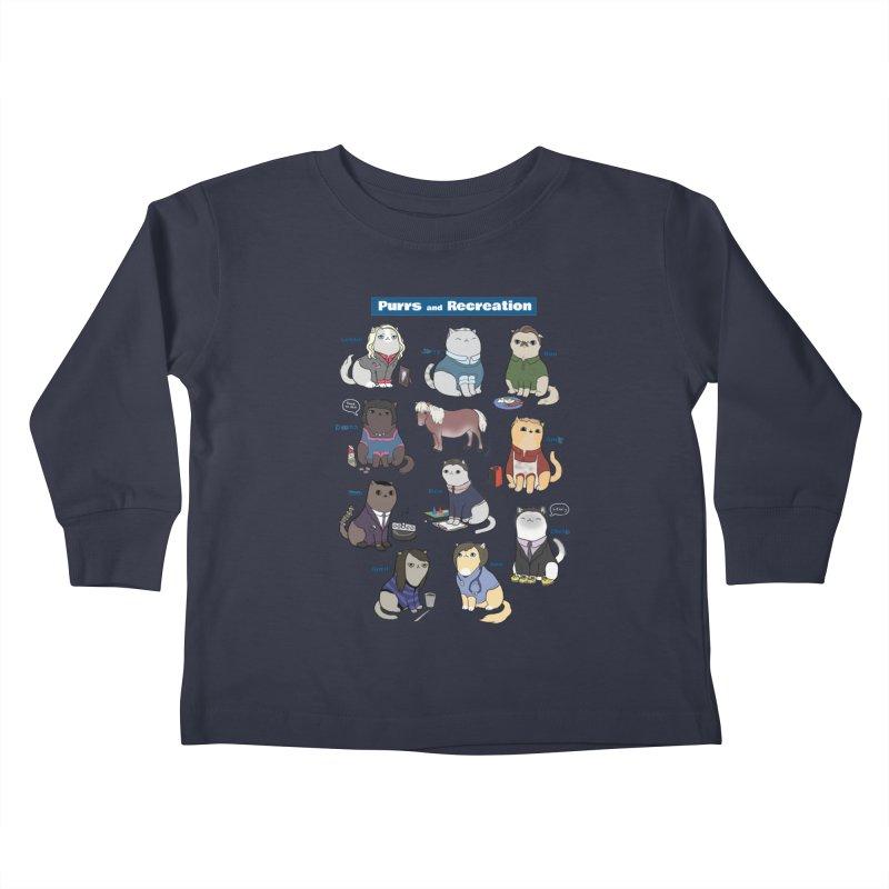 Purrs and Recreation Kids Toddler Longsleeve T-Shirt by KittyCassandra's Artist Shop