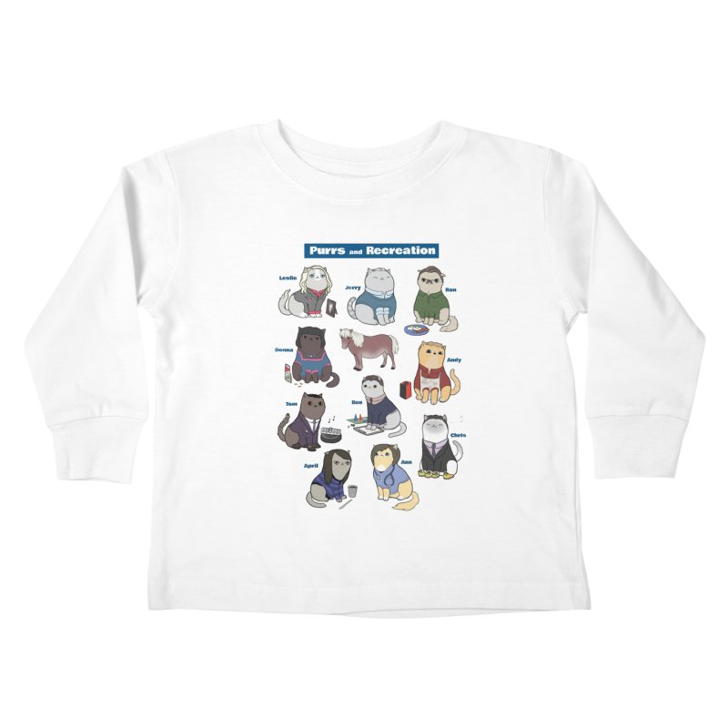 Purrs and Recreation Kids Toddler Longsleeve T-Shirt by KittyCassandra's Artist Shop