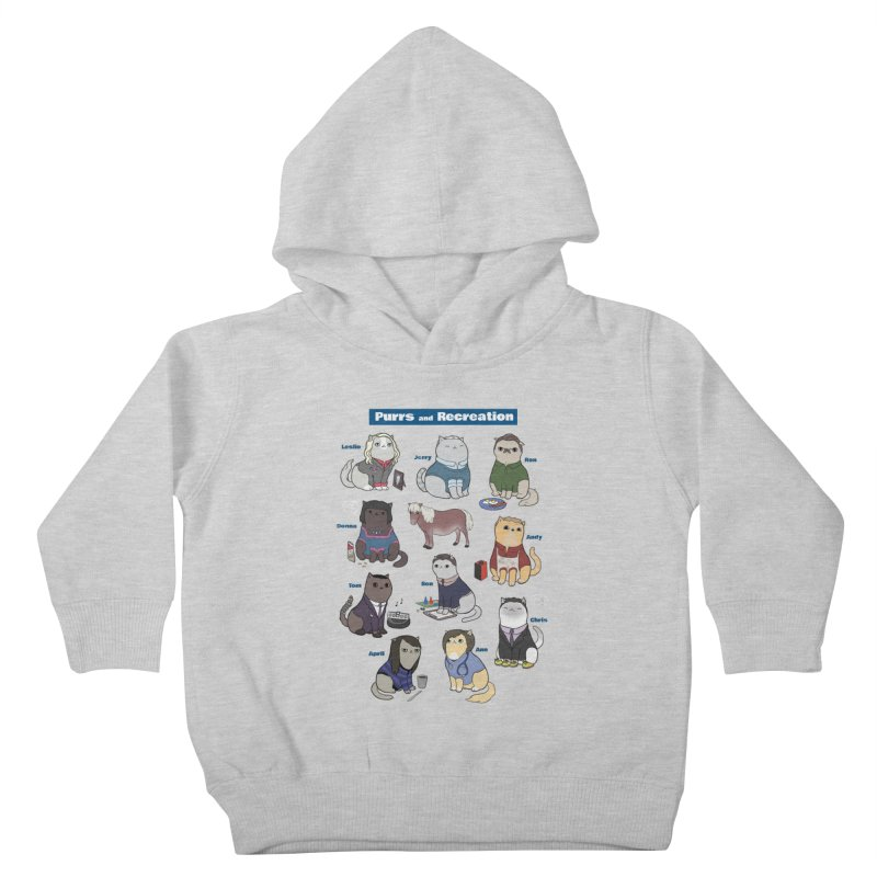 Purrs and Recreation Kids Toddler Pullover Hoody by KittyCassandra's Artist Shop