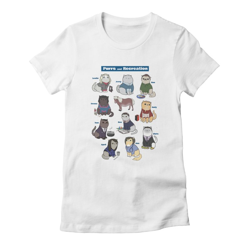 Purrs and Recreation Women's Fitted T-Shirt by KittyCassandra's Artist Shop