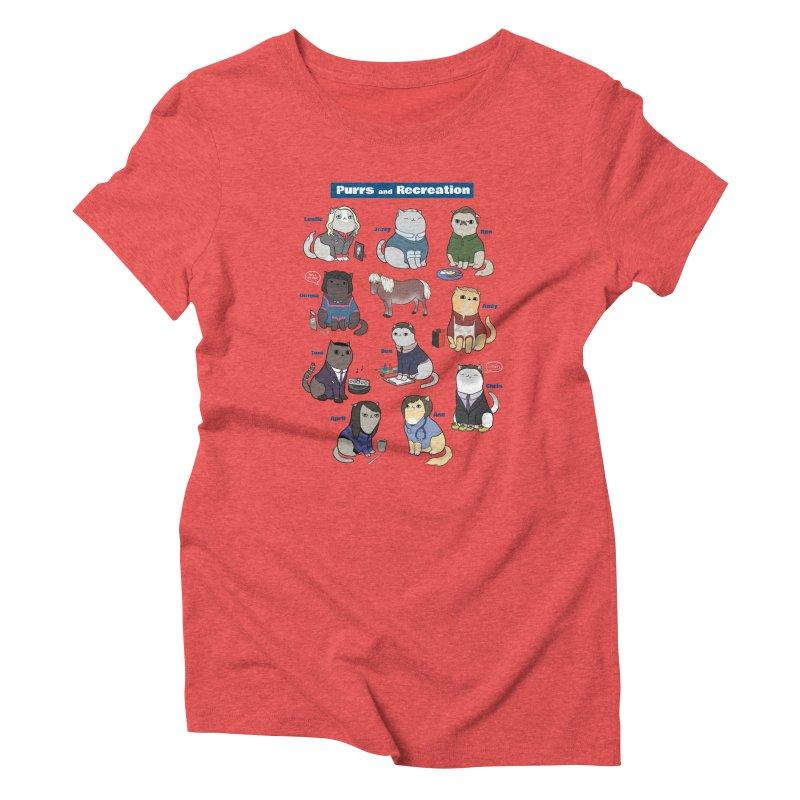 Purrs and Recreation Women's Triblend T-Shirt by KittyCassandra's Artist Shop