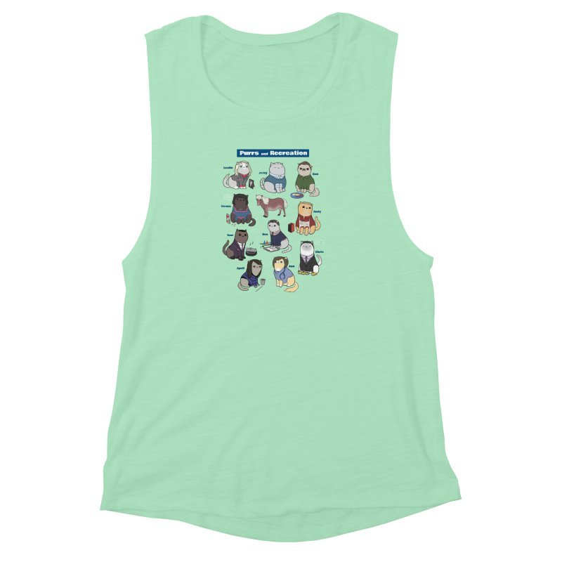 Purrs and Recreation Women's Muscle Tank by KittyCassandra's Artist Shop