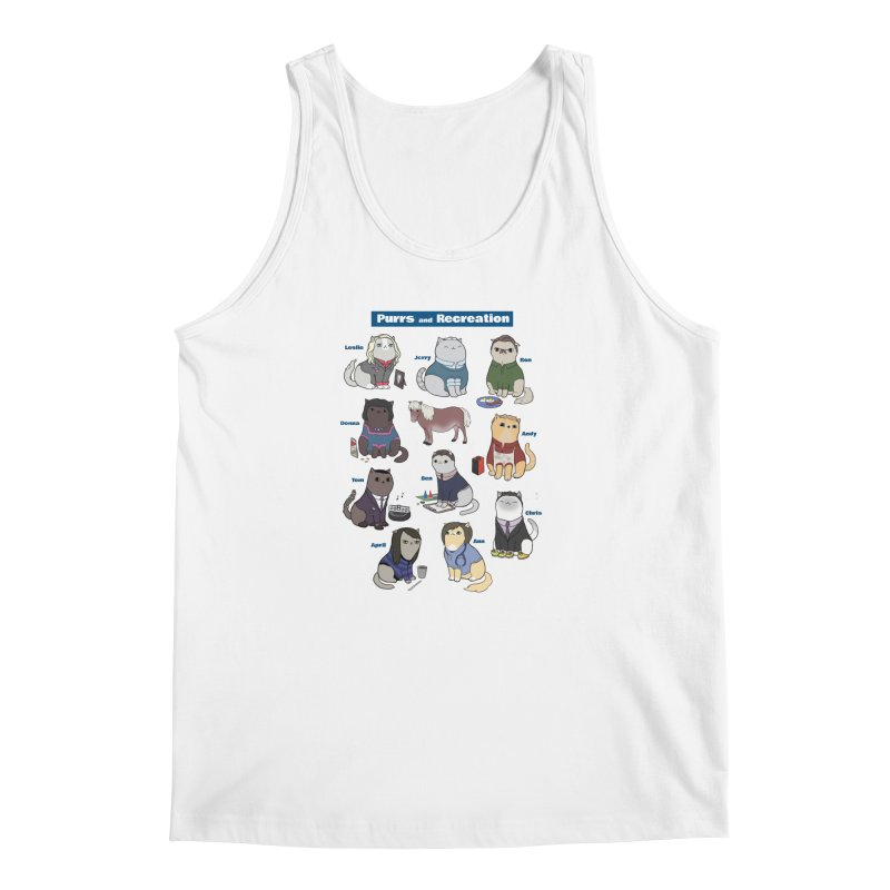 Purrs and Recreation Men's Tank by KittyCassandra's Artist Shop
