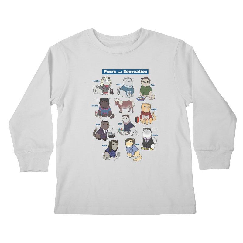 Purrs and Recreation Kids Longsleeve T-Shirt by KittyCassandra's Artist Shop