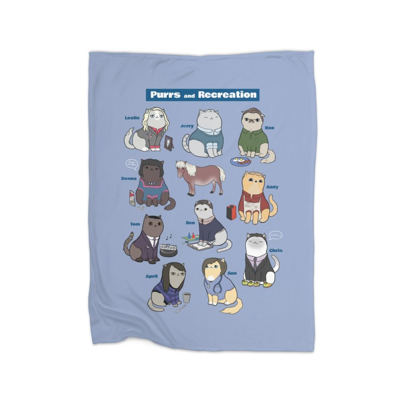 Purrs and Recreation Home Blanket by KittyCassandra's Artist Shop
