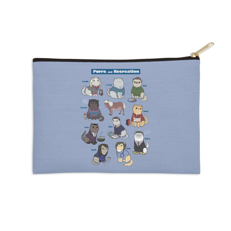 Purrs and Recreation Accessories Zip Pouch by KittyCassandra's Artist Shop