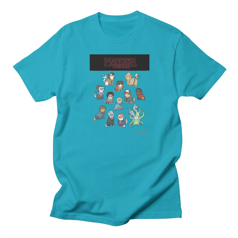 Mangier Things Men's Regular T-Shirt by KittyCassandra's Artist Shop
