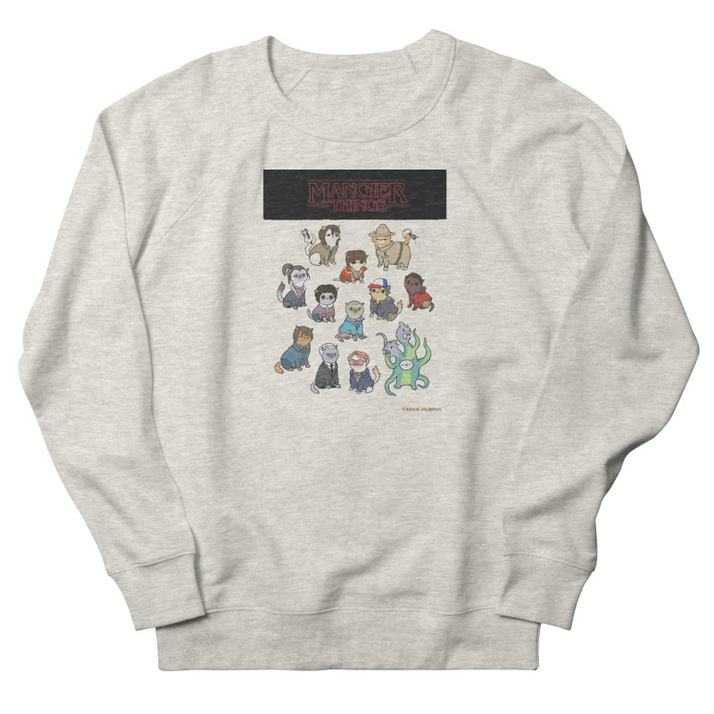 Mangier Things Men's French Terry Sweatshirt by KittyCassandra's Artist Shop