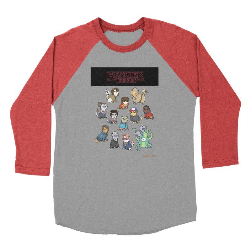 Mangier Things Women's Baseball Triblend T-Shirt by KittyCassandra's Artist Shop