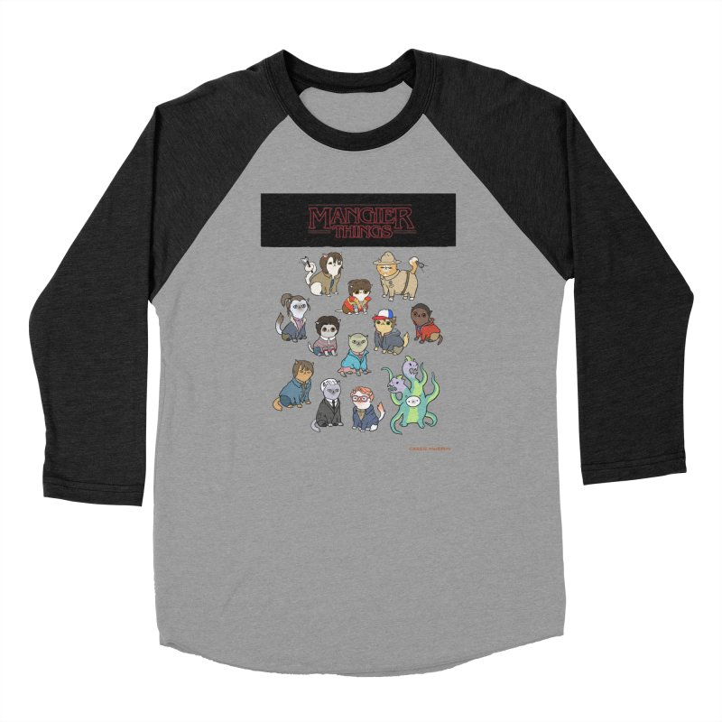 Mangier Things Women's Baseball Triblend Longsleeve T-Shirt by KittyCassandra's Artist Shop