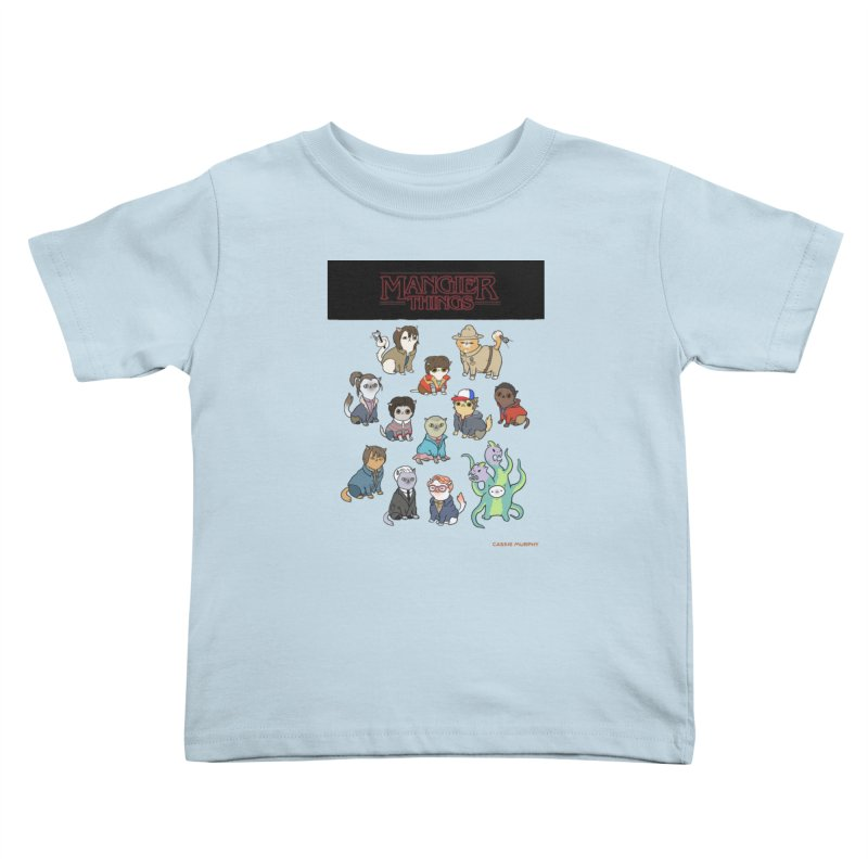 Mangier Things Kids Toddler T-Shirt by KittyCassandra's Artist Shop