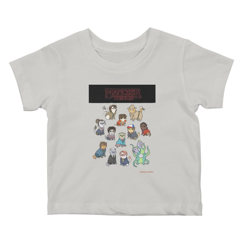 Mangier Things Kids Baby T-Shirt by KittyCassandra's Artist Shop