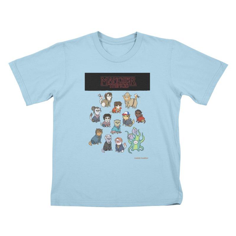 Mangier Things Kids T-shirt by KittyCassandra's Artist Shop