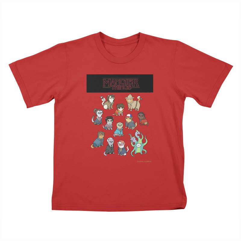 Mangier Things Kids T-Shirt by KittyCassandra's Artist Shop