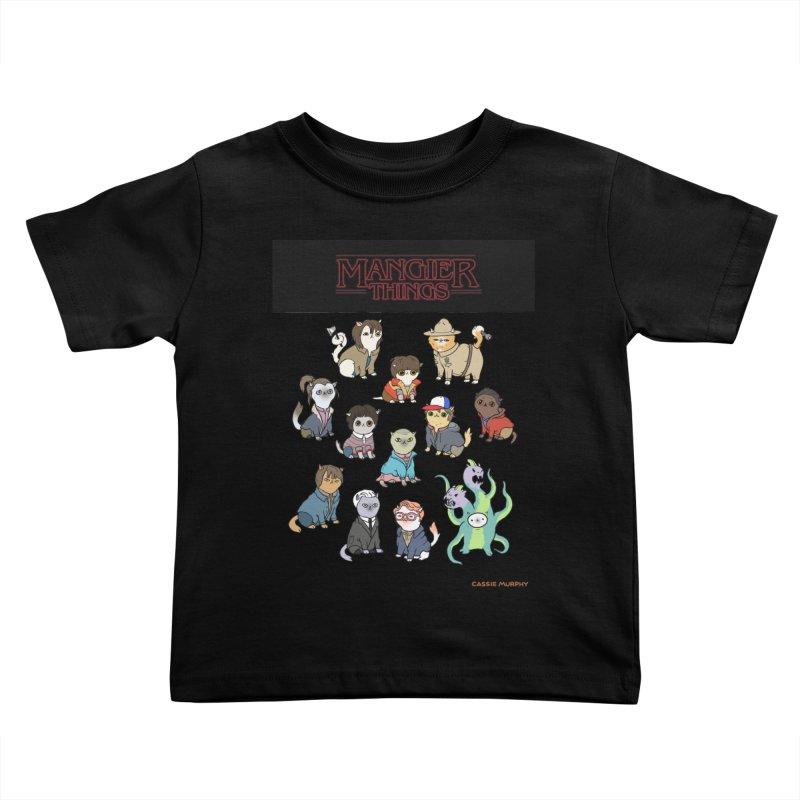 Mangier Things Kids Toddler T-Shirt by KittyCassandra's Artist Shop
