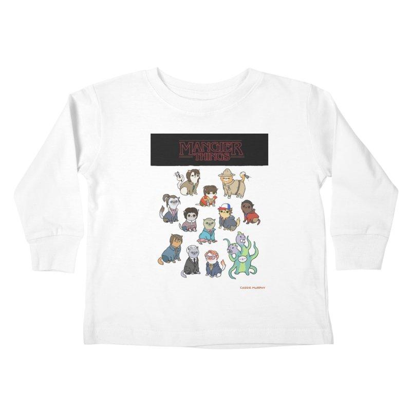 Mangier Things Kids Toddler Longsleeve T-Shirt by KittyCassandra's Artist Shop