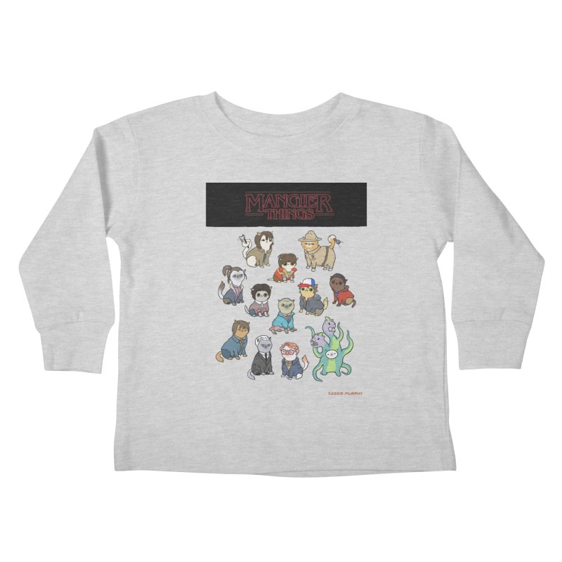 Mangier Things Kids Toddler Longsleeve T-Shirt by KittyCassandra's Artist Shop
