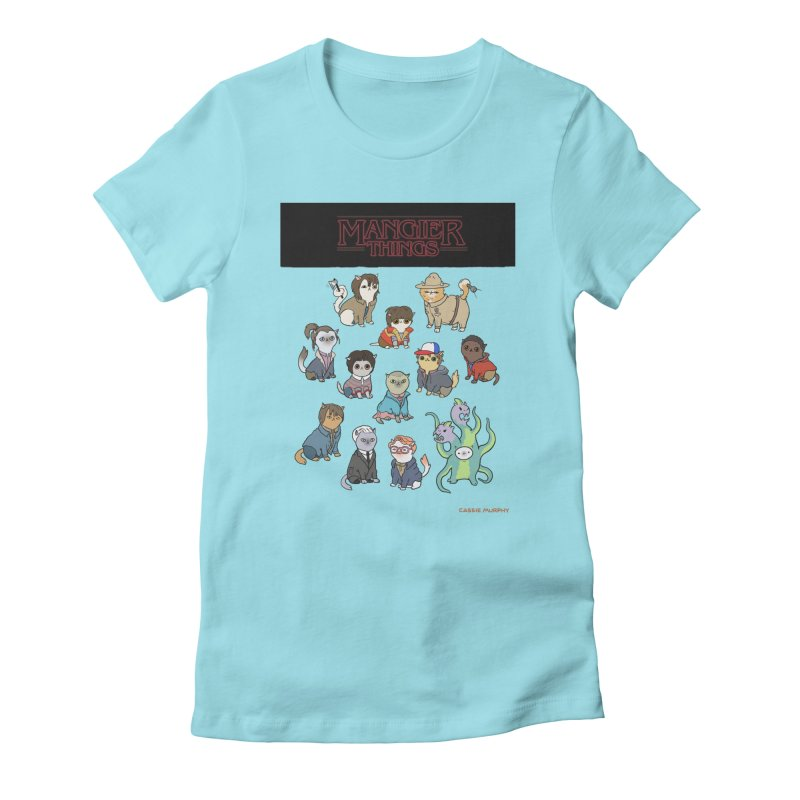 Mangier Things Women's Fitted T-Shirt by KittyCassandra's Artist Shop