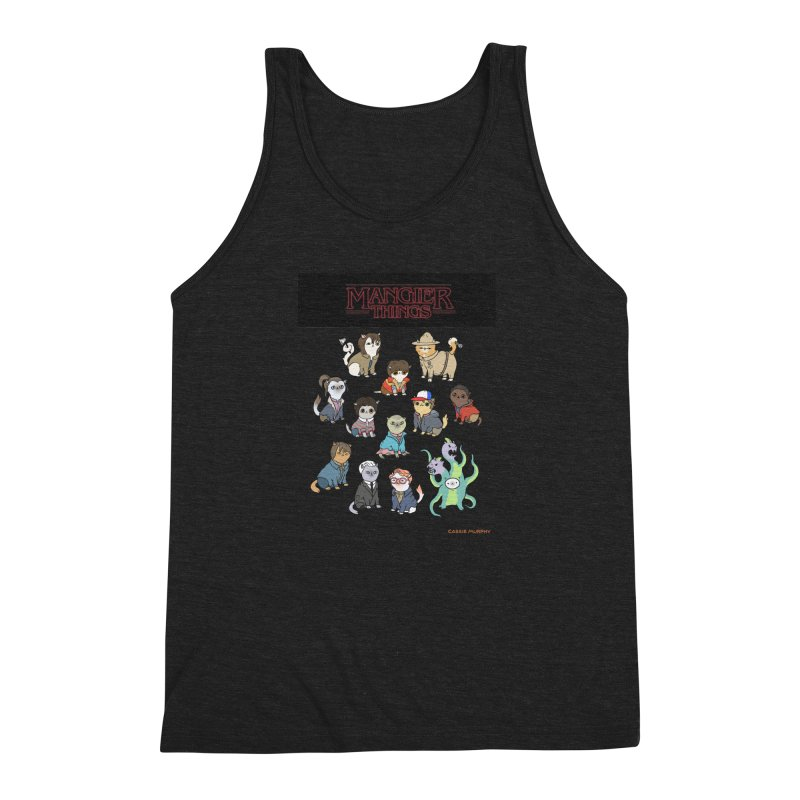 Mangier Things Men's Triblend Tank by KittyCassandra's Artist Shop