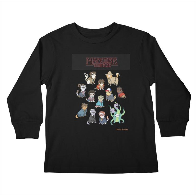 Mangier Things Kids Longsleeve T-Shirt by KittyCassandra's Artist Shop