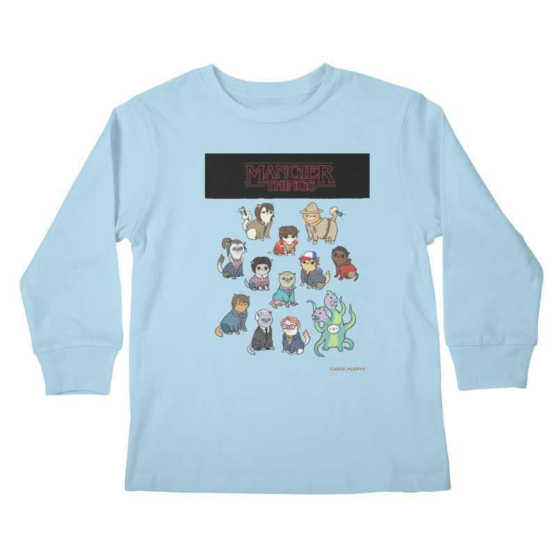 Mangier Things Kids Longsleeve T-Shirt by KittyCassandra's Artist Shop