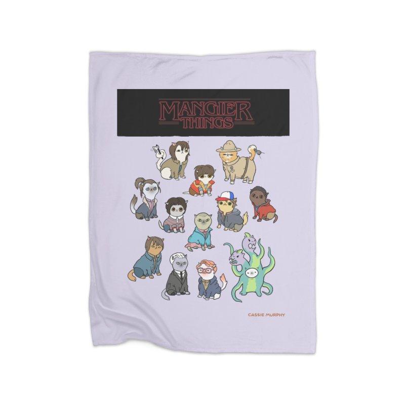 Mangier Things Home Blanket by KittyCassandra's Artist Shop