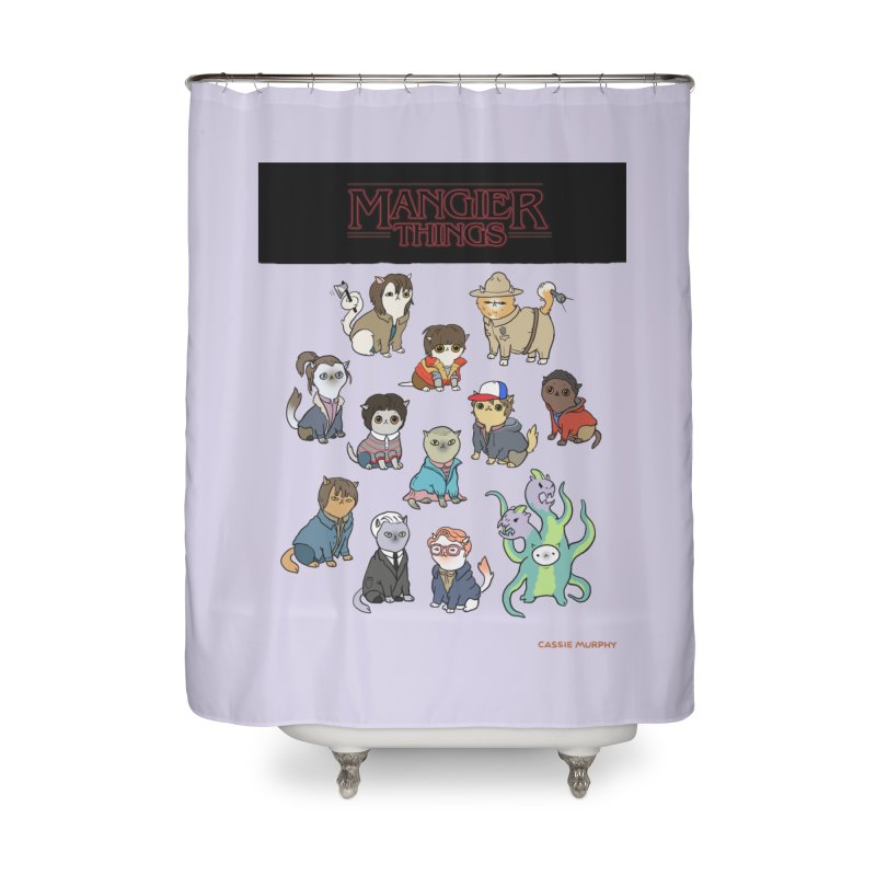 Mangier Things Home Shower Curtain by KittyCassandra's Artist Shop