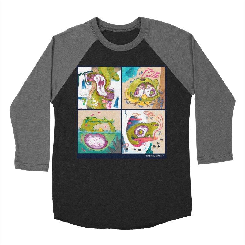 Reptile Nest Series Men's Baseball Triblend T-Shirt by KittyCassandra's Artist Shop