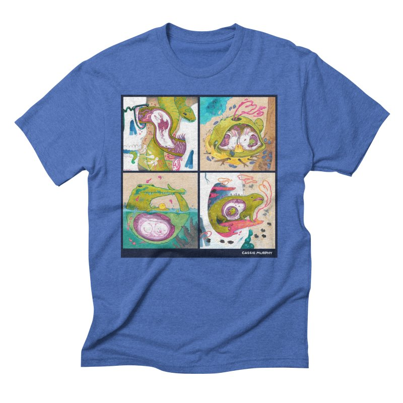 Reptile Nest Series Men's Triblend T-shirt by KittyCassandra's Artist Shop