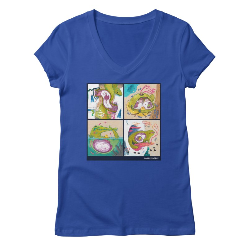 Reptile Nest Series Women's V-Neck by KittyCassandra's Artist Shop