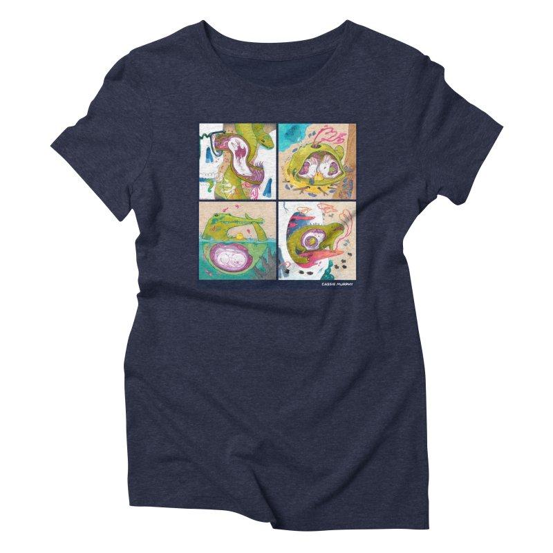 Reptile Nest Series Women's Triblend T-Shirt by KittyCassandra's Artist Shop