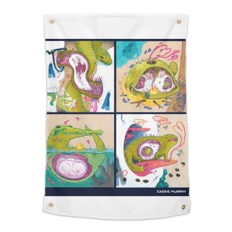 Reptile Nest Series Home Tapestry by KittyCassandra's Artist Shop