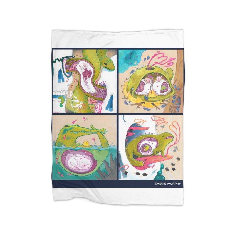 Reptile Nest Series Home Blanket by KittyCassandra's Artist Shop
