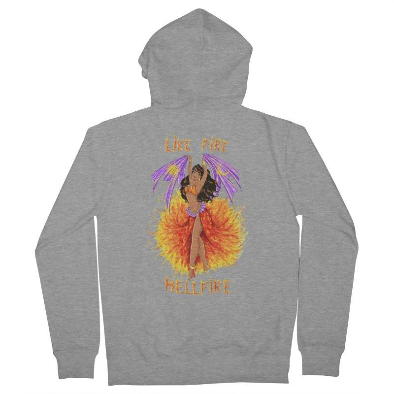 Hellfire Women's Zip-Up Hoody by kktty's Artist Shop