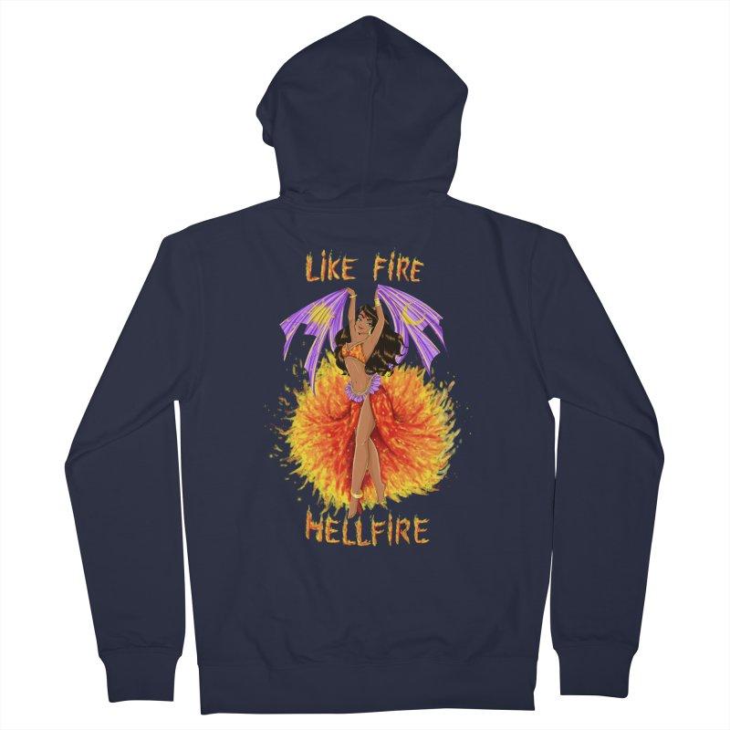Hellfire Men's Zip-Up Hoody by kktty's Artist Shop