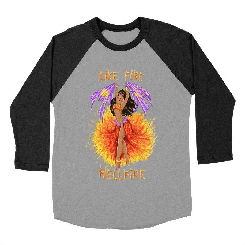 Hellfire Women's Baseball Triblend T-Shirt by kktty's Artist Shop