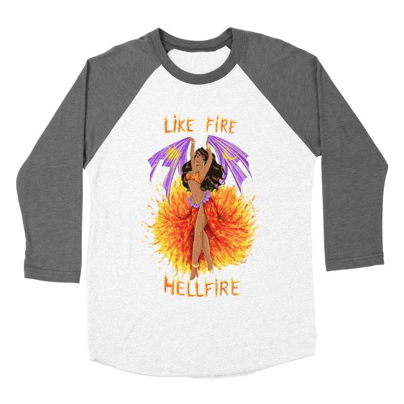 Hellfire Men's Baseball Triblend T-Shirt by kktty's Artist Shop