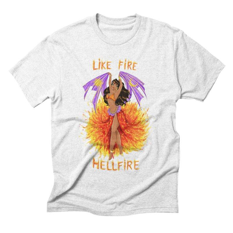 Hellfire Men's Triblend T-shirt by kktty's Artist Shop