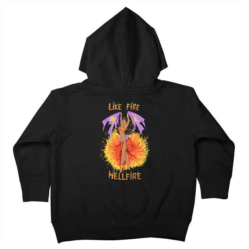 Hellfire Kids Toddler Zip-Up Hoody by kktty's Artist Shop